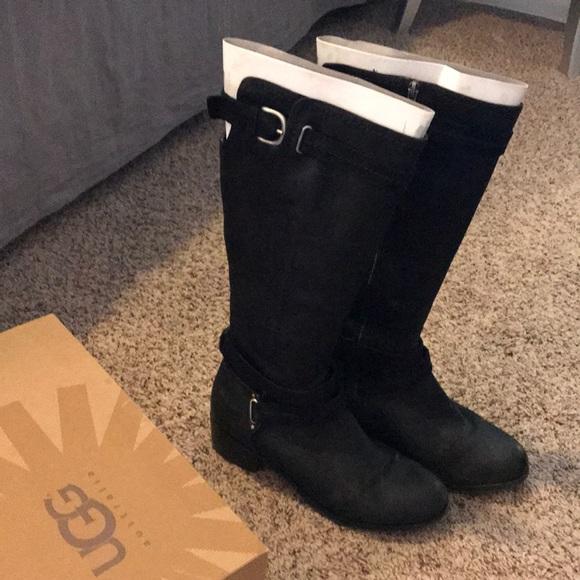 8318b02678b Ugg black just below knee height boots. M 5ba7bcdc4ab6332414604ff5